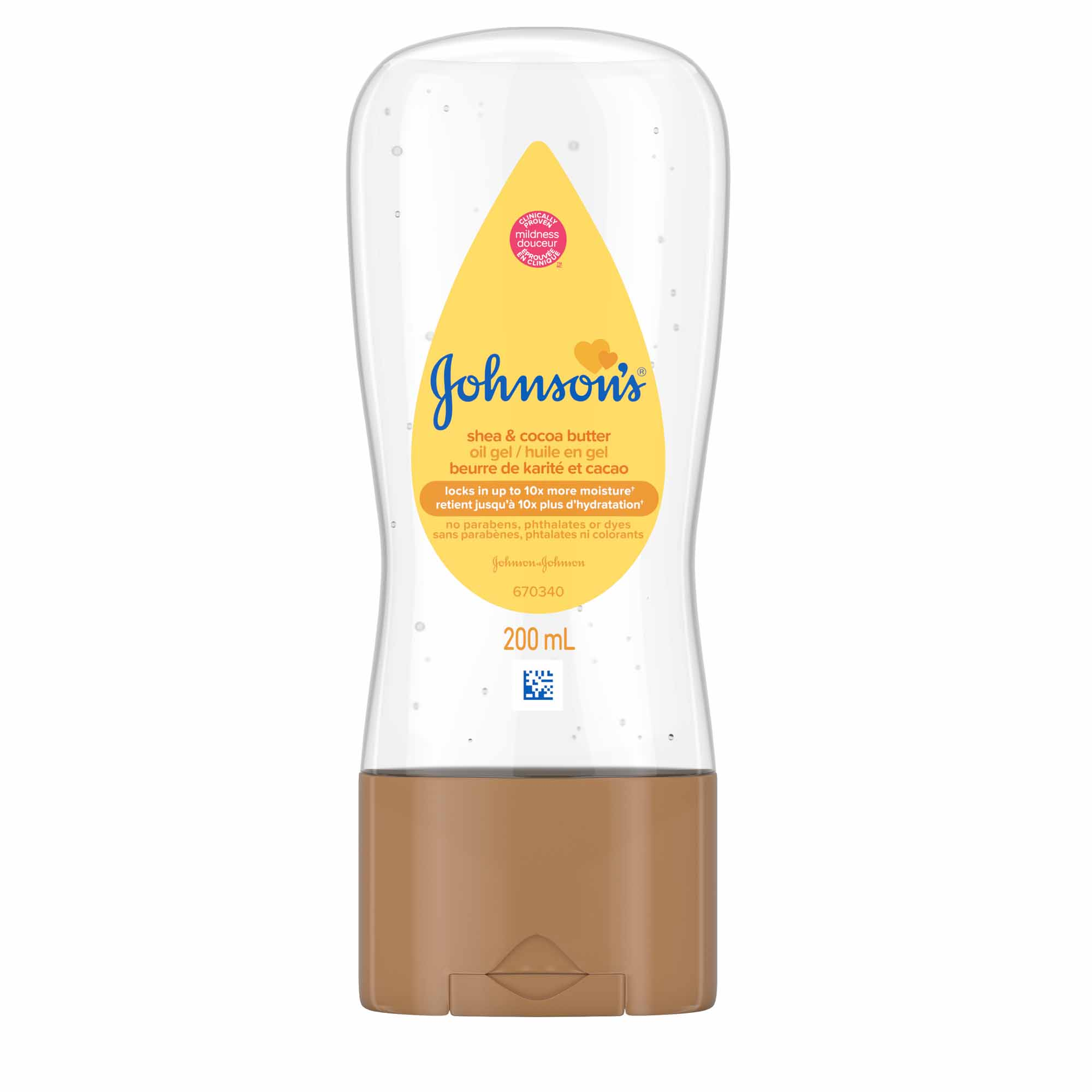 JOHNSON'S® shea cocoa butter baby oil gel front hero