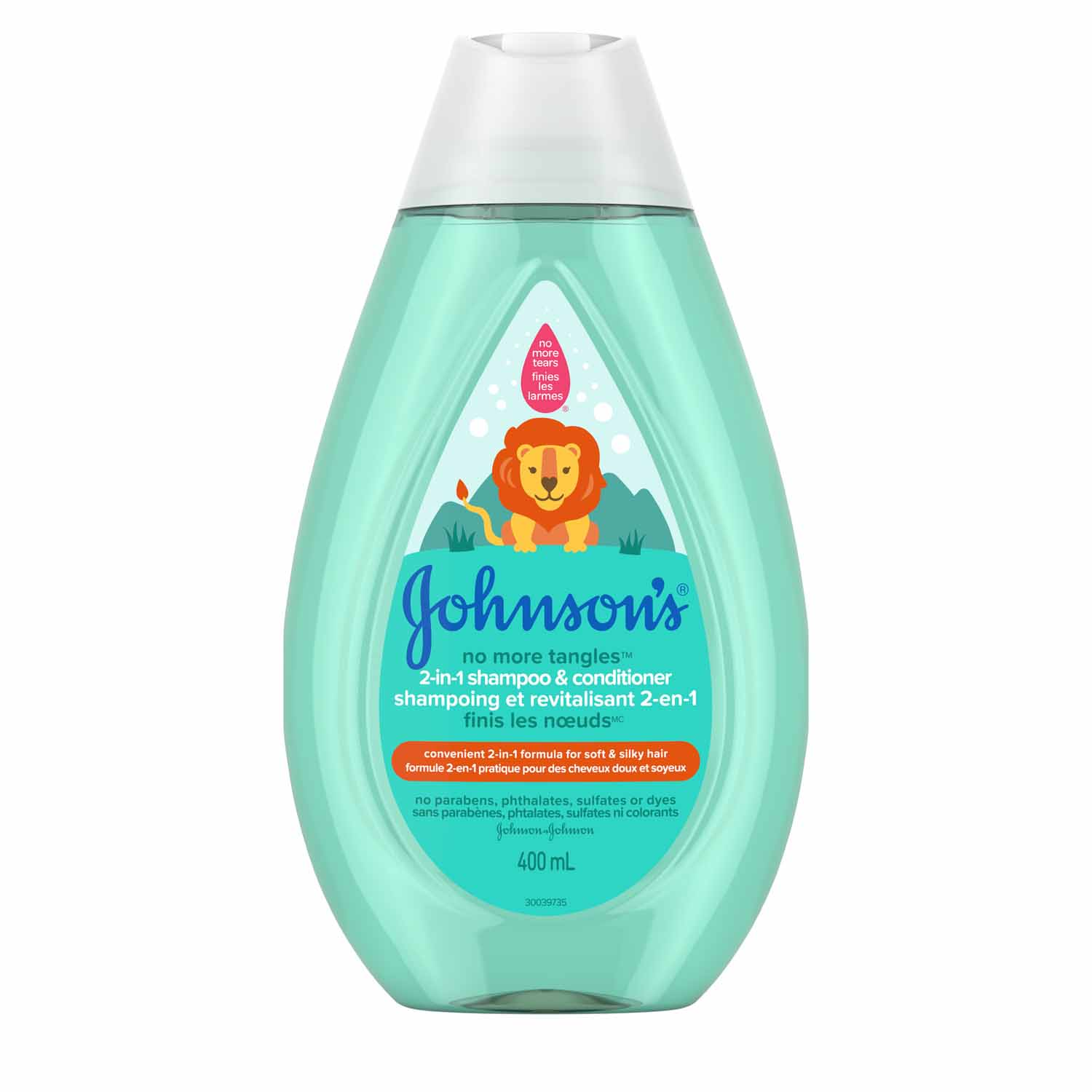 JOHNSON'S® NO MORE TANGLES® shampoo conditioner front hero