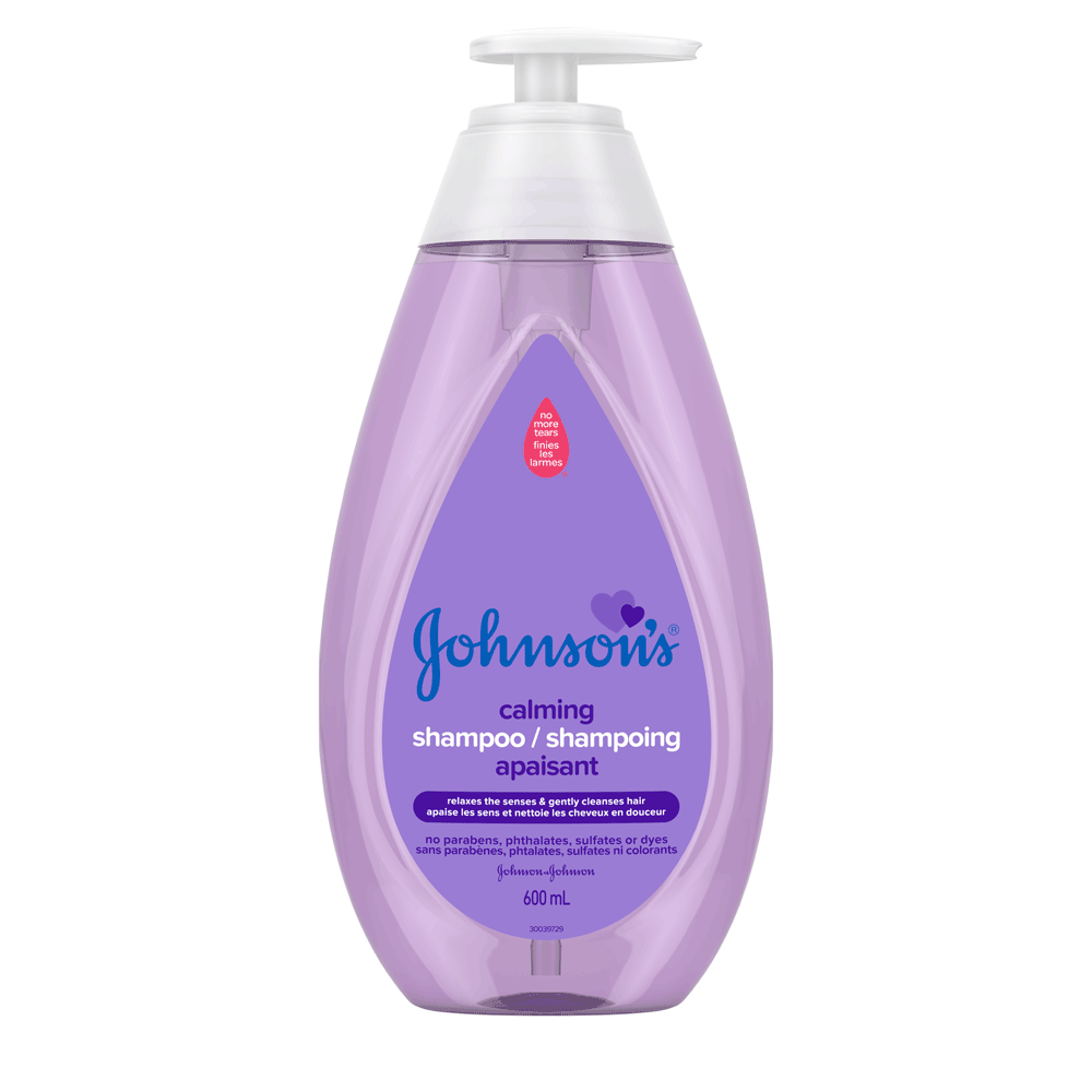 JOHNSON'S® calming baby shampoo front hero