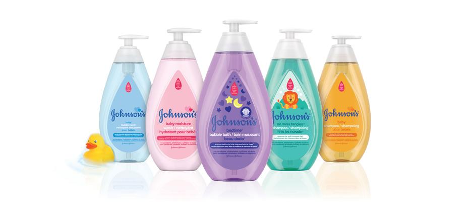 Johnson's® collection of baby products