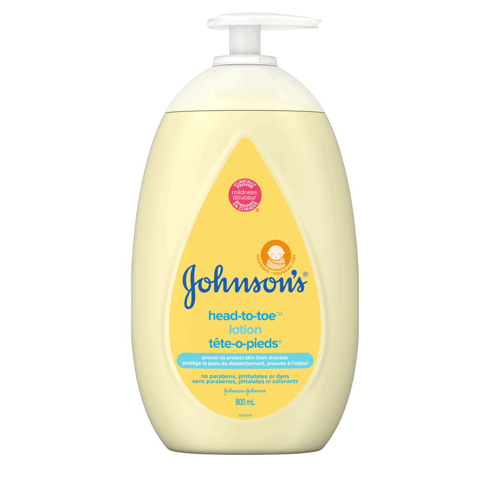 JOHNSON'S® HEAD-TO-TOE® lotion front hero