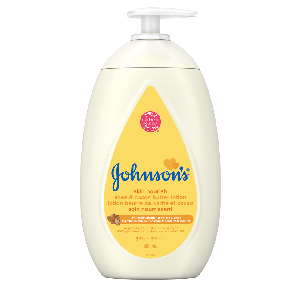 JOHNSON'S® skin nourish shea cocoa butter baby lotion front hero