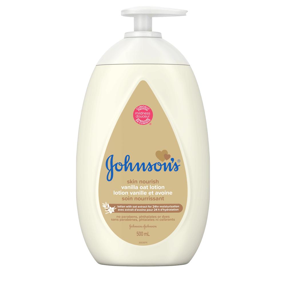 JOHNSON'S® skin nourish vanilla oat baby lotion front hero