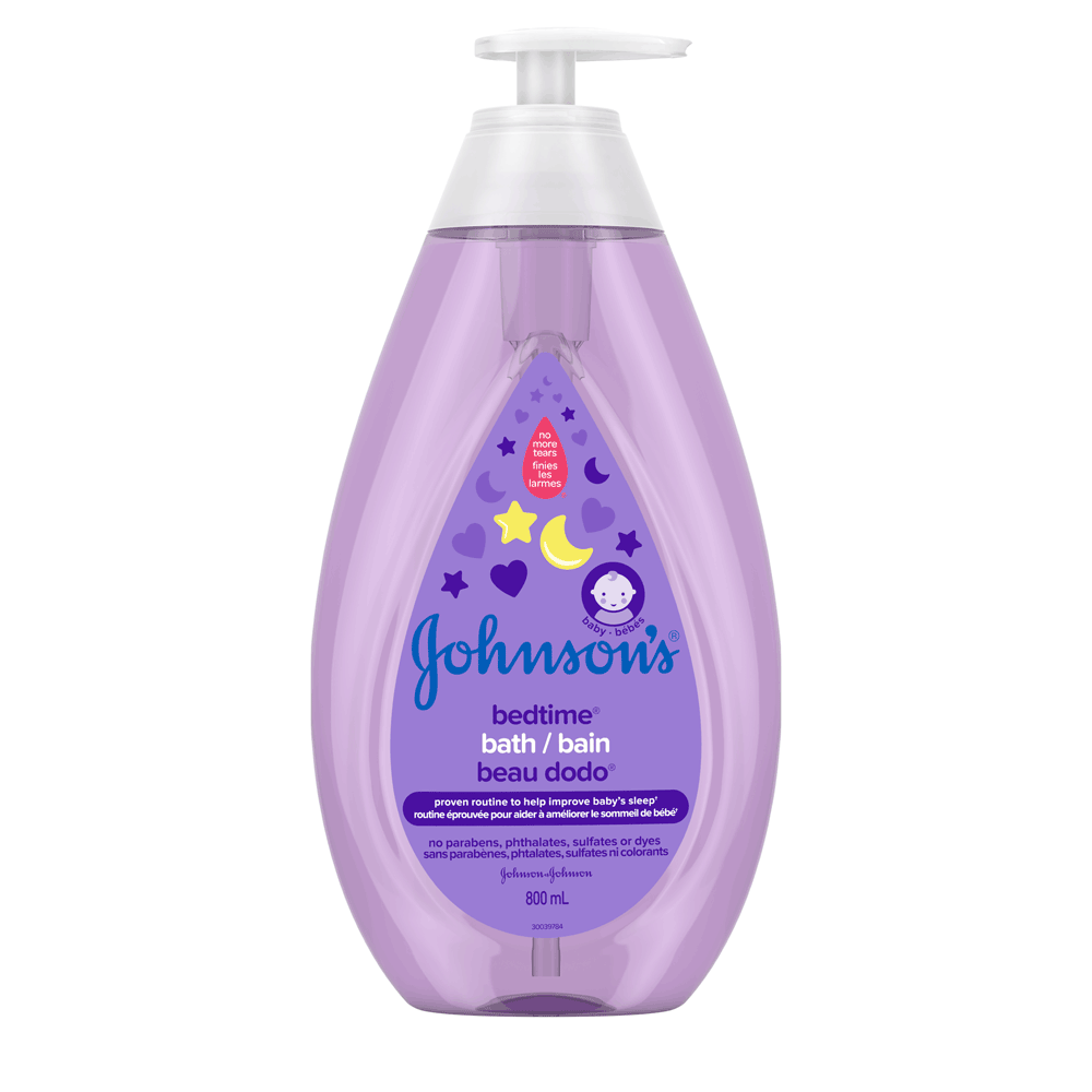 JOHNSON'S® BEDTIME® baby bath front hero