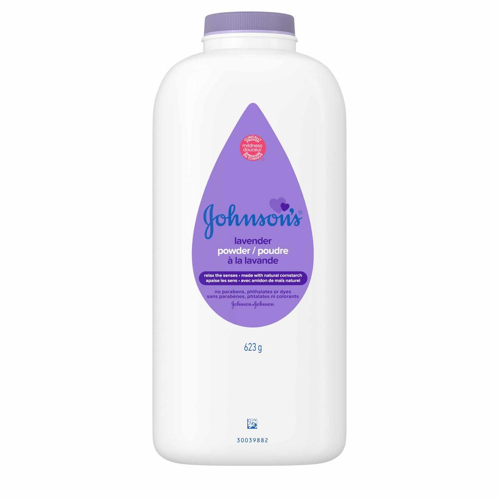 JOHNSON'S® lavender baby powder front hero